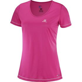 Salomon Mazy Kortærmet T-shirt Damer pink